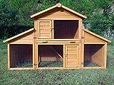 Kaninchenstall Kleintierhaus Hasenstall Kleintierkäfig Nr. 01 'Möhrchen' mit Seitenflügeln