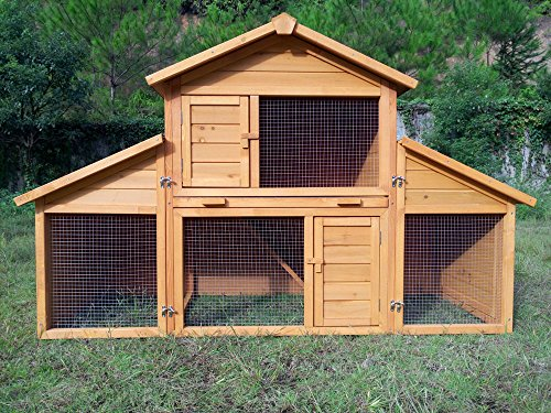 """Zoopplier Kaninchenstall Kleintierhaus Hasenstall Kleintierkäfig Nr. 01""""Möhrchen mit Seitenflügeln"""