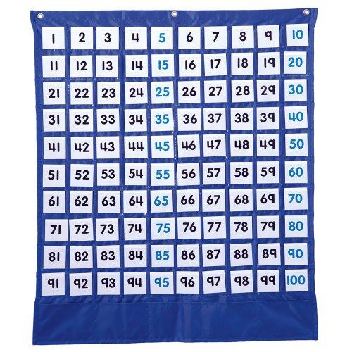 Carson Dellosa Deluxe Hundred Board Pocket Chart