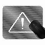 SGSKJ Gaming Mouse Pad Tappetino Segnale di Pericolo di esclamazione Incidente Nero Piatto Piatta per Il Mouse in Gomma Antiscivolo, rettangolo Mouse Pad per Computer Portatile 1H1650