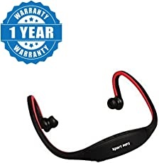 Drumstone Professional Sports Headset with FM & Micro SD Card Slot Works with All Android or iPhone Devices (Colour May Vary)
