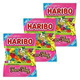 Haribo Feen-Flug, 3er Set, Fruchtgummi, Gummibonbon, Weingummi, Frucht Gummi, Gummibärchen, Tüte