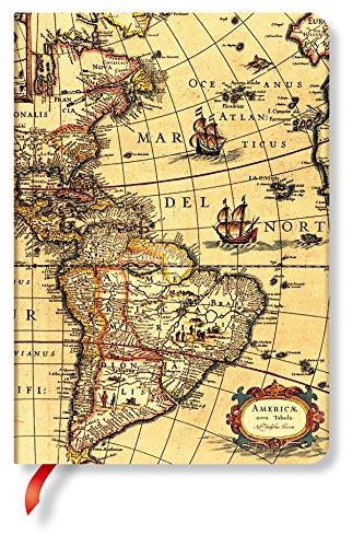 Paperblanks frühe Kartografie westliche Hemisphäre, Notizbuch, Midi Unliniert