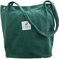 Funtlend Damen Handtasche Groß Canvas Tasche Damen Umhängetasche Henkeltasche Damen für Mädchen Schule Uni-Upgraded-40…