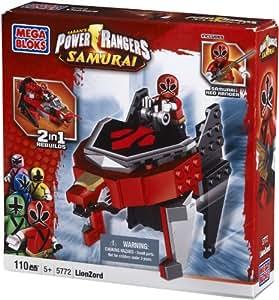 Megabloks - 5772 - Jeu de Construction - Power Rangers - Super Samurai - Lion Zord Samurai - Red Ranger