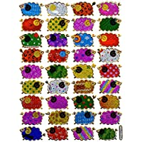 sheep animal sticker colorful decal Metallic Glitter 1 sheet Dimensions: 13.5 cm x 10 cm