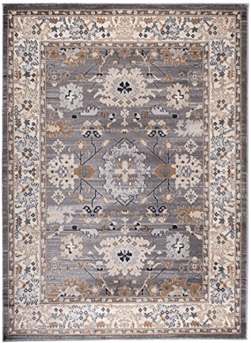 Carpeto Orientteppich Teppich Grau 120 x 170 cm Ornamente Muster Ayla Kollektion