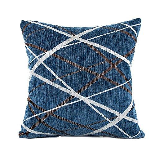 TTLOVE Stilvolle Einfachheit Polyester Kissenbezug Sofa Dekokissen Fall Home Decor Weiche Quadratische KissenhüLle KissenhüLlen Kissen Case Taille BettwäSche Kopfkissen (Blau)