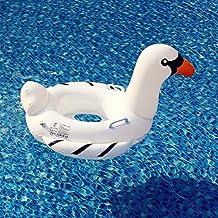 YEZOU Flotador para Bebé Anillo de Natación Cisne Blanco con apoyabrazos y asiento para niños de