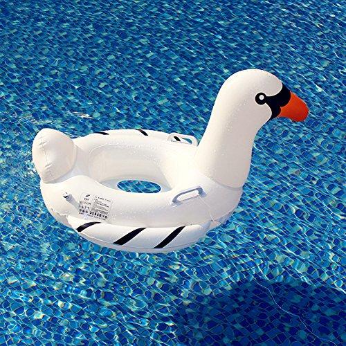 YEZOU Baby Schwimmsitz Rosafarbener Weißer Schwan Aufblasbar Kinder Schwimmring Aufblasbares Schwimmreifen Badespielzeug (Weißer Schwan)