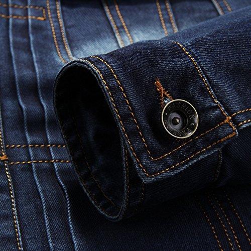 Denim Jeansjacke Herren Blau übergangs Jacke Freizeit Sakko 66008A - 5
