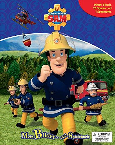 Feuerwehrmann Sam. Spiel- u. Beschäftigungsbuch: Inhalt: 1 Buch, 12 Figuren, 1 Spielmatte