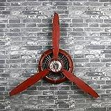 INTASTE Loft Retro industriellen Stil Rot Dekoration Wand Uhr Flugzeug Propeller Eisen wandbehang wanddekorationen Anhänger Wand Dekoration L * W * H 67 * 7 * 53 cm