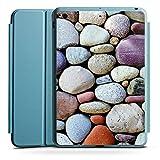 Apple iPad Mini 4 Smart Case hellblau Hülle Tasche mit Ständer Smart Cover Kieselsteine Steine Stones