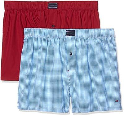 Tommy Hilfiger Men's Woven Boxer 2 Pack Boxer Shorts
