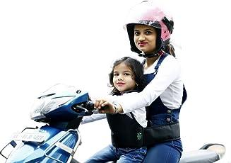KIDSAFE Belt - Two Wheeler Child Safety Belt - World's 1st Trusted & Leading-Plain Grey