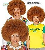 Guirca 4008 - Peluca Afro Castaña Extra