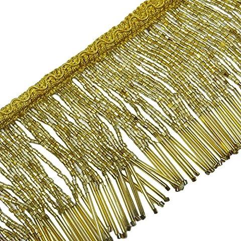 Fournitures d'ameublement d'or perlé Fringe décoratif Ruban Rideau Craft Par 1 Jardin
