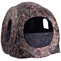 Tangkula Portable Hunting Blind Pop Up Ground Camo Weather Resistant Hunting Enclosure by Tangkula