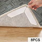 Antirutschmatte für Teppich, MojiDecor Teppichgreifer waschbar wiederverwendbar Teppichunterlage Teppichstopper, starke Klebrigkeit und leicht zu entfernen - idealer Rutschschutz für Teppich, 8 Stück (8 Stücke)