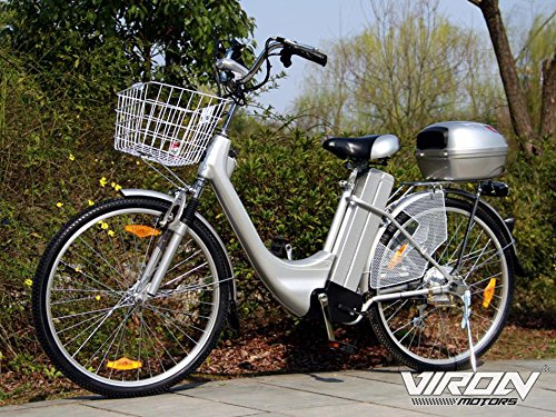 Elektrofahrrad 250W / 36V E-Bike 26' Zoll Pedelec Fahrrad mit Motor Citybike (grau)