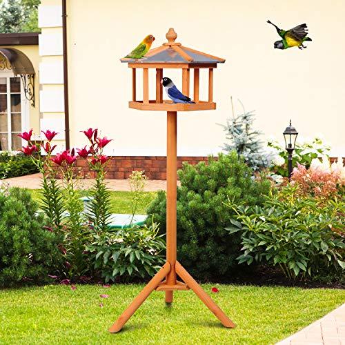PawHut Vogelhaus mit Ständer und Zinkdach - 2