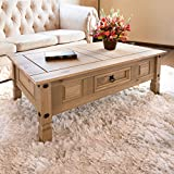 Furniture Best Deals - Corona Mexican Pine | Coffee Table | Rustic Design | with Drawer