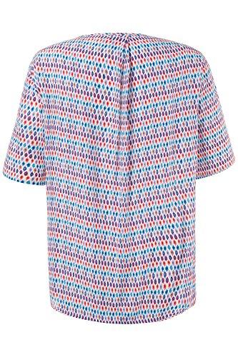 Ulla Popken Femme Grandes tailles Tunique 710600 Multicolore