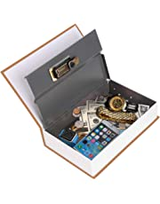 PackNBuy Book Safe Numeric Locker Jewellery Cash Box (Red)