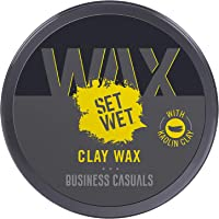 Set Wet Styling Hair Clay Wax 60g, Strong Hold, Ultra Matte Finish, With Kaolin Clay, Re-stylable Anytime, Easy wash off…