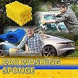Spugna autopulente a nido d'ape, JIJI886 Altamente assorbente,indossabile e confortevole, giallo 6,7 x 4 x 2,9 pollici Sponge+Asciugamano per pulizia fibra 30X30cm Adatto per autolavaggio (Giallo)
