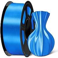 SUNLU Silk PLA Filament 1.75mm, 3D Printer Filament Silk, Silky Shiny Filament PLA for 3D Printers and Pens, 1kg(2.2Lbs…