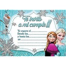 10 x Frozen partido de los niños invitaciones Elsa La Reina de las Nieves