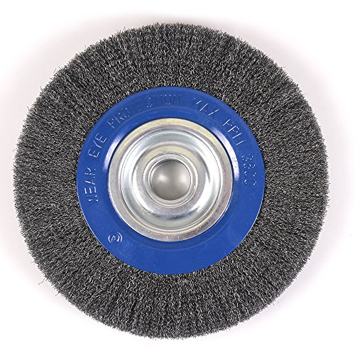 "Mercer Industries 183040B Crimped Wire Wheel, 10"" x 1"" x 2"" (1/2"", 5/8""), For Bench/Pedestal Grinders"