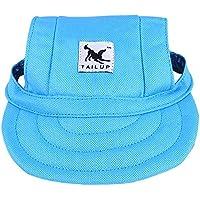 YUMSUM Gorra de béisbol para Mascotas Perros Sport Oxford Visera de Tela Sun Hat con Agujeros para los oídos para Perros pequeños