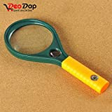 #8: Hand-Held Optical Grade Magnifying Glass(90mm) With Compass - Jewelry, Coin & Stamp Collectors, Geography And Many More Purposes | magnifying glass for reading | magnifying glass 10x | magnifying glass for kids | magnifying glass 90mm | magnifying glass repairing |
