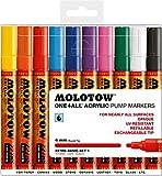 Molotow MO200456 Acryl Marker One4All 227HS, Etui Basic-Set 1, 4 mm, 10 Stück