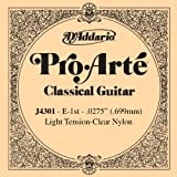 D'Addario J4301 Einzelsaite E Konzertgitarre Clear Nylon 0275/J43 Light Tension