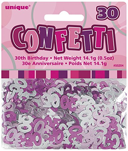 Unique Party Supplies Konfetti grau/rosa - 30 Jahre Rosa Und Grau Party Supplies