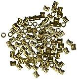 uxcell A16041800ux0816M3x 5mm 0,5mm Pitch Cylindre en laiton moleté fileté Insert Écrous Embedded