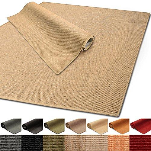 *100% reines Sisal | Sisalteppich in verschiedenen Farben und vielen Größen (Natur, 140 x 200 cm)*