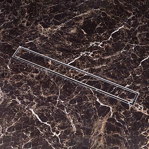 Duschrinne 110cm edelstahl Bodenablauf Ablaufrinne Duschablauf Randablauf Boden Ablauf Rin