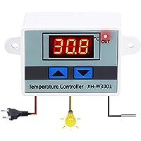 OurLeeme Regolatore di temperatura digitale, 10A 220V Interruttore di comando del termostato con display LCD