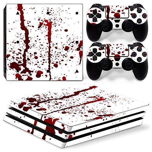 Stillshine PS4PRO Konsole Design Foils Vinyl Skin Sticker Decal Sticker and 2Playstation 4Dualshock Controller Skins Pro Set Blut