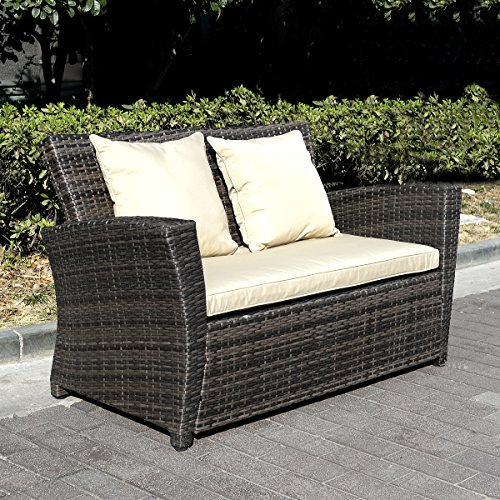 11tlg.Gartenmöbel Rattan Lounge Set Polyrattan Sitzgruppe Rattanmöbel Garnitur Garten - 6