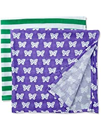 Toby Tiger Baby-Girls Butterfly Muslin Set of 2 Scarf