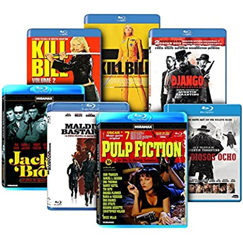 Pack Tarantino: Malditos Bastardos + Django Desencadenado + Jackie Brown + Kill Bill - Volumenes 1 y 2 + Pulp Fiction + Los Odiosos Ocho