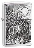 Zippo Feuerzeug Timberwolves Emblem, Chrom gebürstet