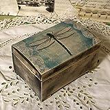 Vintage Holz Federkästchen Federmäppchen Federmappe Griffelkasten Holzkasten