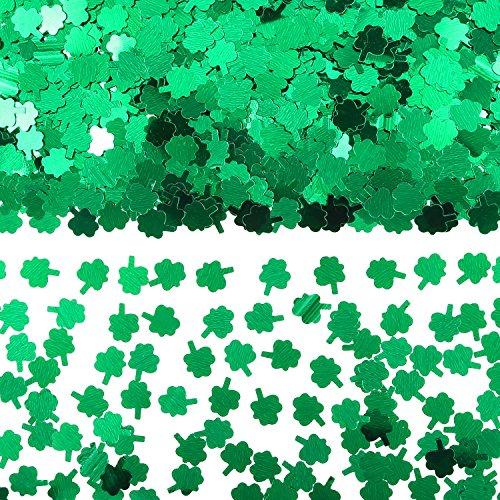 ucky Saint Patricks Day Grün Konfetti Kleeblatt Party Lieferungen für St Patricks Holiday Party Dekorationen (Saint Patricks Day Handwerk)